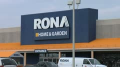 RONA Corporate Store 2- Zoom out Stock Footage