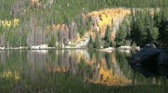 Mountain Lake in Fall Stock Footage