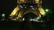 EiffelEvening Stock Footage