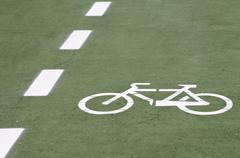 bike route - stock photo