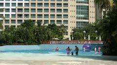 Resort swimming pool family fun Mexico HD 4100 Stock Footage