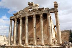 Roman temple Stock Photos
