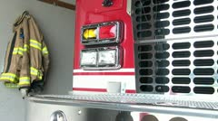 Firetruck with Fireman's Jacket Stock Footage