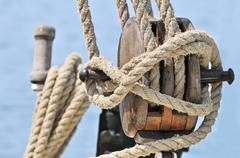 old sailing equipment - stock photo