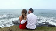 Couple kissing Stock Footage