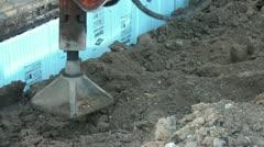 Flat Jackhammer Pounds Dirt Stock Footage