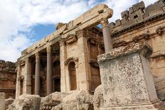baalbeck - stock photo