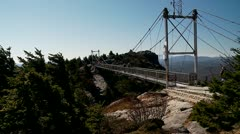 Tourist Bridge on Grandfather Mountain Stock Footage