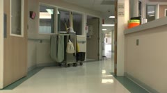 Hospital Cleaning Cart Supplies - stock footage