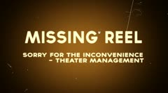 Missing reel theater management Stock Footage
