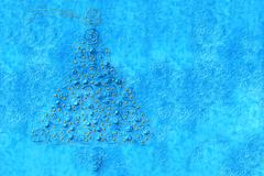 fir christmas cards - stock illustration