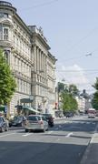 Salzburg street scenery Stock Photos