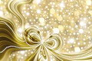 Christmas card, gold and stars Stock Illustration