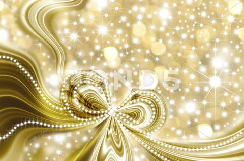 Stock Illustration of christmas card, gold and stars