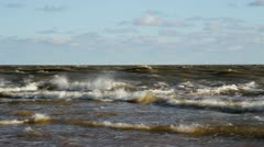 Storm at the Baltic sea. Stock Footage