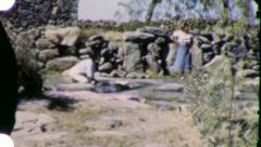 WOMAN WASHING CLOTHES MEXICO Mexican 1940s (Vintage Film Home Movie) 5868 Stock Footage