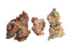 Native copper nuggets Stock Photos