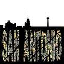 San antonio grunge dollar text with skyline illustration Stock Illustration
