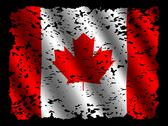 Grunge canadian flag with ripples illustration Stock Illustration
