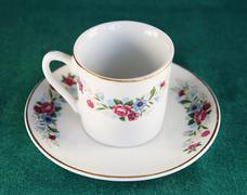 teacup and saucer - stock photo