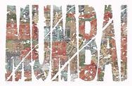 Mumbai grunge text with rupee Stock Illustration
