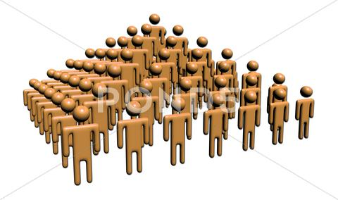 Stock Illustration of abstract people in pyramid shape
