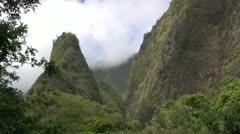 Ioa Needle Maui Stock Footage