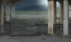 surreal architecture - stock illustration