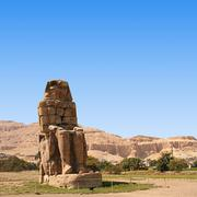 The colossi of memnon Stock Photos