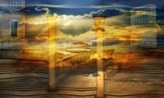 celestial city - stock illustration