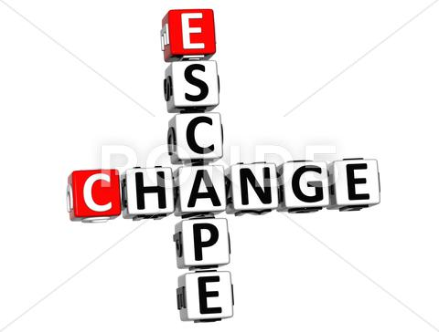 Stock Illustration of 3d escape change crossword