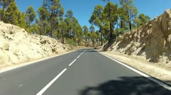 Driving in the mountains of Tenerife - Timelapse version - stock footage