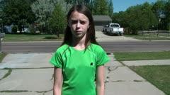 Girl Gets Watch & Money & Leaves on Bike Stock Footage