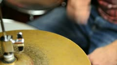 Drummer at work Stock Footage