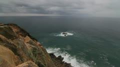 Cabo da Roca cape in Portugal Stock Footage