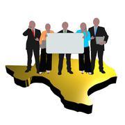 texan business team - stock illustration
