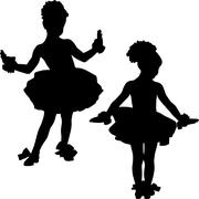 small ballerinas - stock illustration