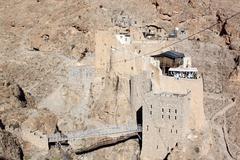 monastery mar musa - stock photo