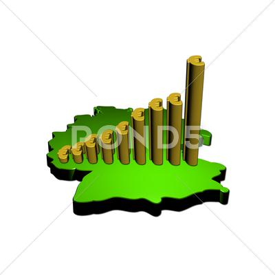 Stock Illustration of euro graph on germany