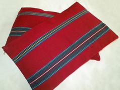 Vintage pillowcase handwoven Stock Photos