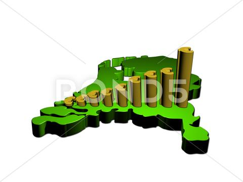 Stock Illustration of euro graph on netherlands