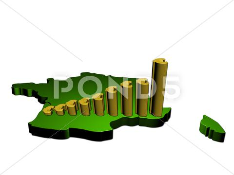 Stock Illustration of euro graph on france