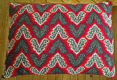 vintage pillowcase with handmade original embroidery - stock photo