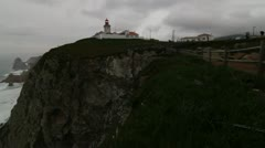 Stock Video Footage of Cabo da Roca cape in Portugal - lighthouse