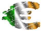 Grunge irish euro Stock Illustration
