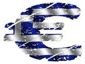 Grunge greek euro Stock Illustration