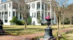 Nottoway Plantation mansion 3/4 front Stock Footage