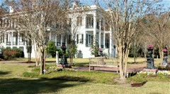 Nottoway Plantation mansion Stock Footage