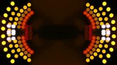 Urban lights traffic tunnel Stock Footage