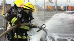 Car Firefighting 911 Stock Footage